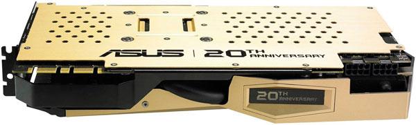 Выпуском 3D-карты Asus GTX 980 20th Anniversary Gold Edition компания Asus отметила 20 лет со дня выпуска своей первой 3D-карты