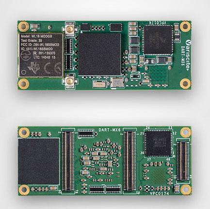 ������� �������� ����� Variscite DART-MX6 � ����� 20 � 50 ��