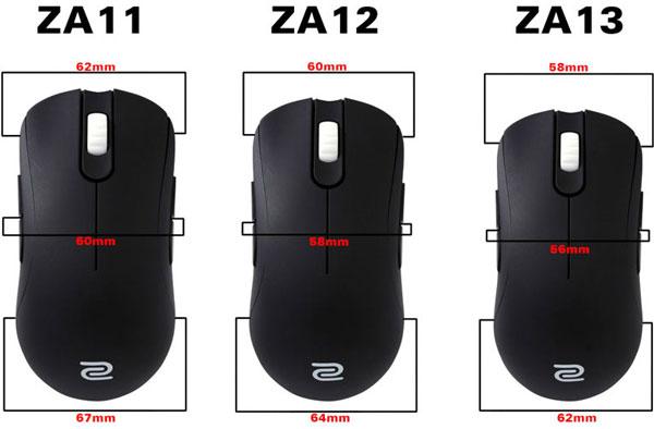 В мышах Zowie Gear ZA используется датчик Avago 3310