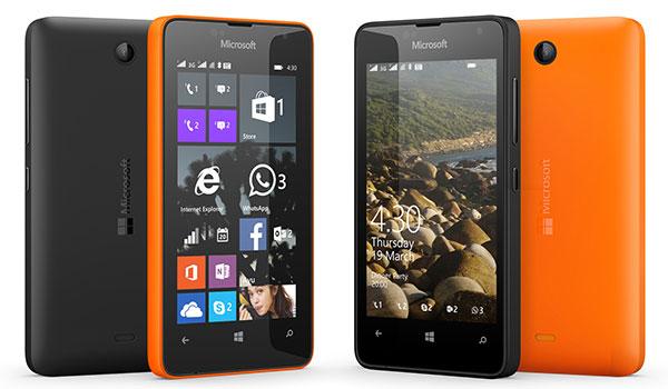 Четырехдюймовый экран Microsoft Lumia 430 имеет разрешение 480 x 800 пикселей