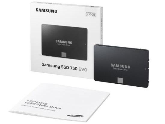 SSD Samsung 750 Evo предназначены для корпоративных пользователей