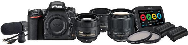 Набор для видеосъемки Nikon D750 DSLR Filmmaker's Kit стоит примерно $4000