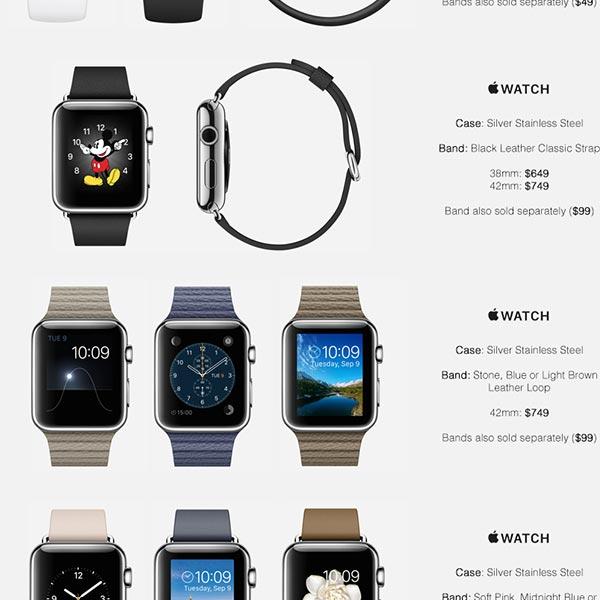 Начало продаж часов Apple Watch ожидается в апреле