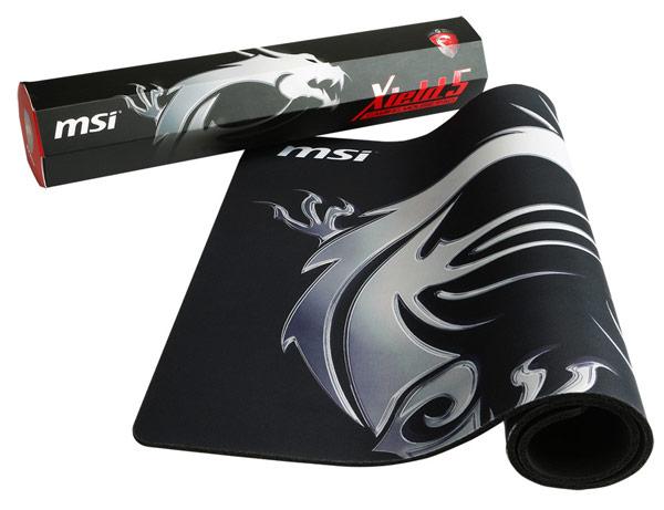 Масса коврика MSI Xield5 Gaming — 730 г