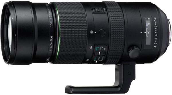 Представлен объектив HD Pentax D FA 150-450mm F4.5-5.6ED DC AW
