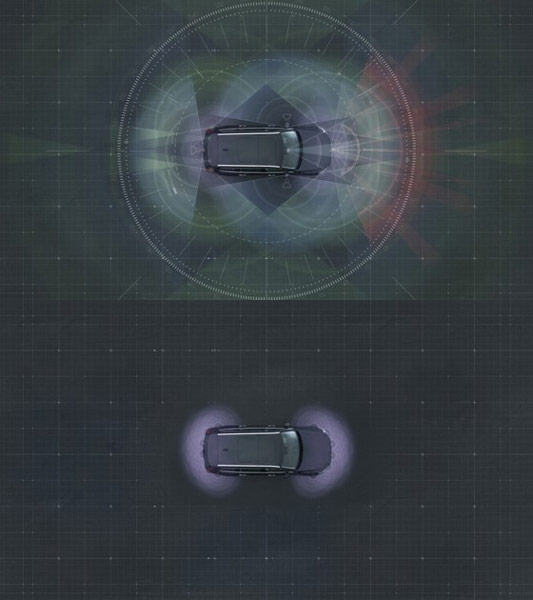 Самоуправляемые автомобили Volvo располагают средствами, обеспечивающими точное определение местонахождения и полный обзор на 360°