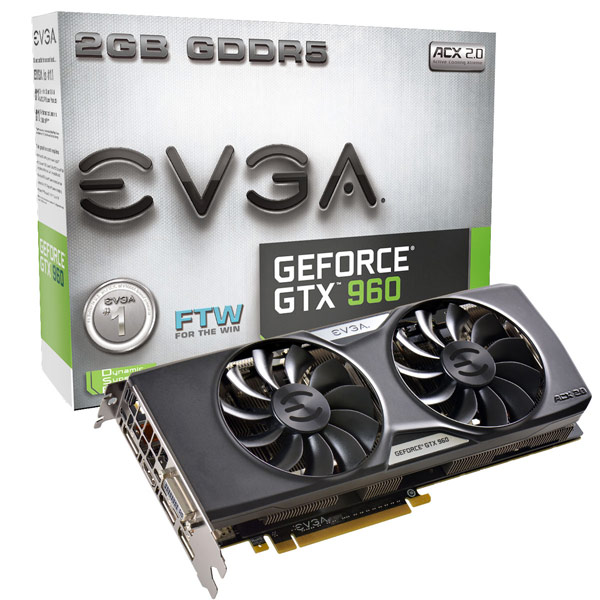 ����������� EVGA ��������� 3D-����� ����� GeForce GTX 960