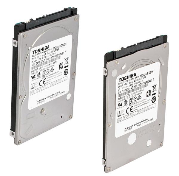 Модели MQ02ABD100H и MQ02ABF050H объемом 1 ТБ и 500 ГБ открыли новое поколение гибридных накопителей Toshiba