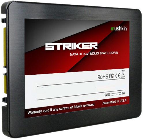 Накопители Mushkin Striker оснащены интерфейсом SATA 6 Гбит/с