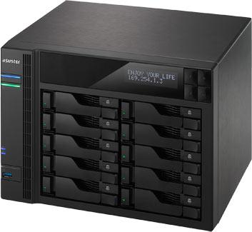 К достоинствам хранилищ с сетевым подключением AS5008T, AS5010T, AS5108T и AS5110T производитель относит наличие четырех портов Gigabit Ethernet