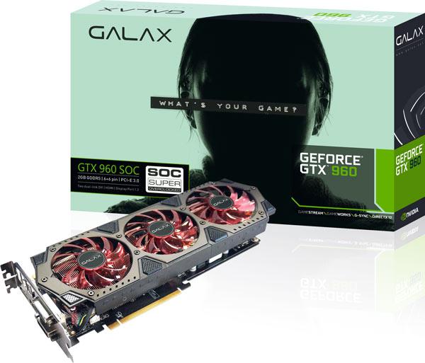 Galax тоже выпускает укороченный вариант 3D-карты GeForce GTX 960