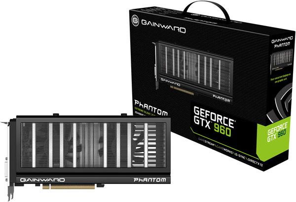 Gainward представила три разогнанных варианта 3D-карты GeForce GTX 960, включая два с кулером Phantom