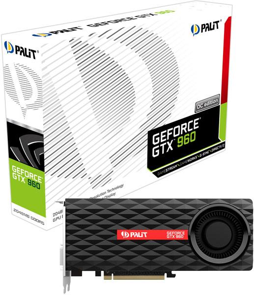 Ассортимент Palit пополнили разогнанные 3D-карты GTX 960 Super JetStream, GTX 960 JetStream и GTX 960 OC