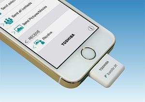 ���������� TransferJet �������� ������������� iOS