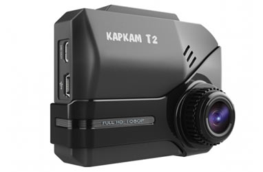Корпус видеорегистратора Каркам Т2 изготовлен из пластика ABS