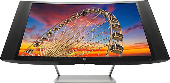 HP начинает продажи мониторов с изогнутыми экранами