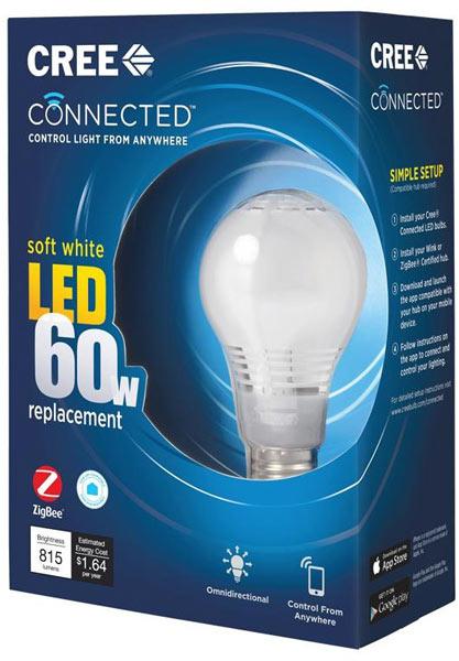 Светодиодная лампочка Connected Cree LED Bulb поддерживает ZigBee