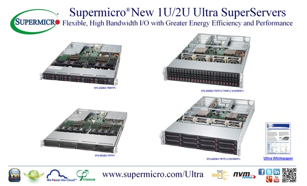 ����� ������� Supermicro Ultra SuperServers �������� ������� 40G � ������������ NVMe