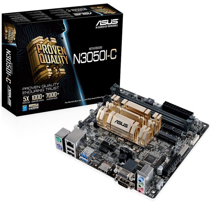 Системные платы Asus N3050I-C и N3150I-C выполнены в типоразмере mini-ITX