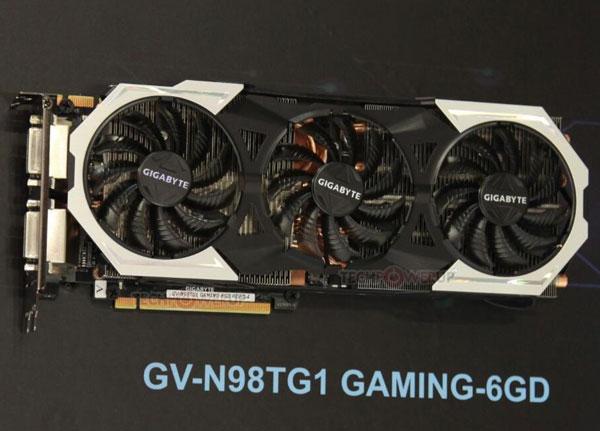 Система охлаждения 3D-карты Gigabyte GeForce GTX 980 Ti Gaming G1 включает три вентилятора типоразмера 100 мм