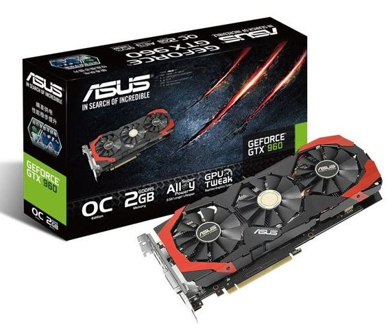 Asus GeForce GTX 960 с СО DirectCU III