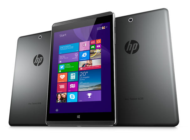 Планшет HP Pro Tablet 608 оснащен восьмидюймовым экраном
