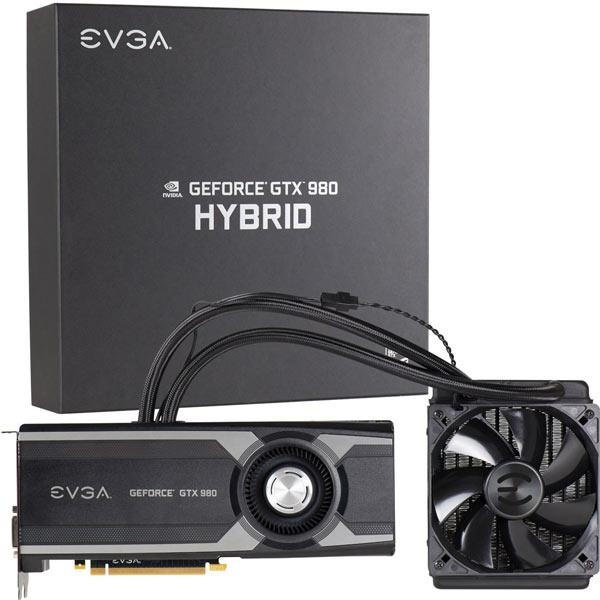 Представлена 3D-карта EVGA GeForce GTX 980 Hybrid с гибридной системой охлаждения