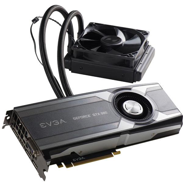 Базовая частота графического процессора EVGA GeForce GTX 980 Hybrid равна 1291 МГц