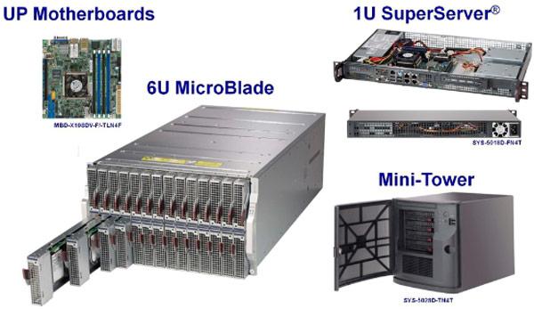 Supermicro использует в новой линейке серверов и системных плат однокристальные системы Intel Xeon D-1540
