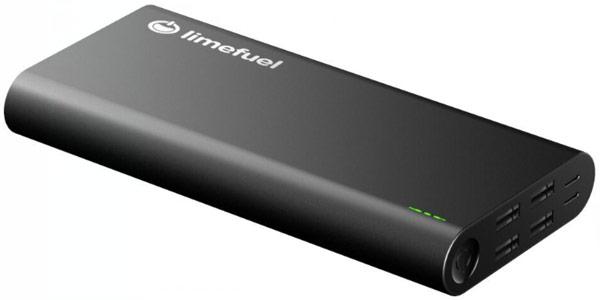 Емкость мобильного аккумулятора Limefuel с разъемами USB Type-C равна 24 000 мА∙ч