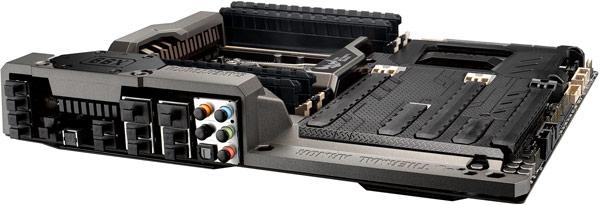 В оснащении Asus TUF Sabertooth X99 можно выделить два порта USB 3.1 с разъемами Type-A
