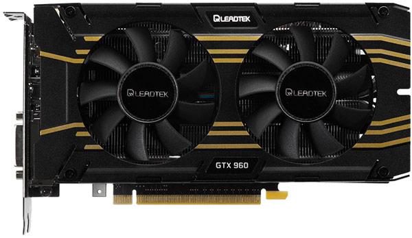 Стабильную работу компонентов 3D-карты Leadtek GTX 960 Hurricane обеспечивает система охлаждения с двумя вентиляторами