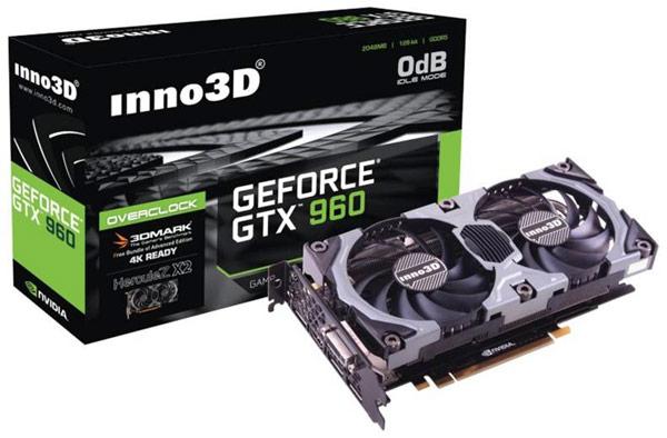 3D-карта Inno3D GeForce GTX 960 с 4 ГБ памяти оснащена пятью видеовыходами
