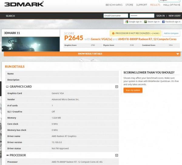 APU AMD FX-8800P