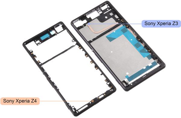 Появились изображения металлического шасси смартфона Sony Xperia Z4