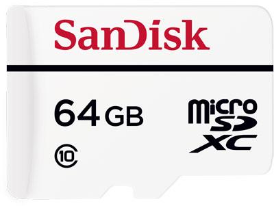 Карты памяти SanDisk High Endurance Video Monitoring microSDXC и microSDHC предназначены для систем видеонаблюдения