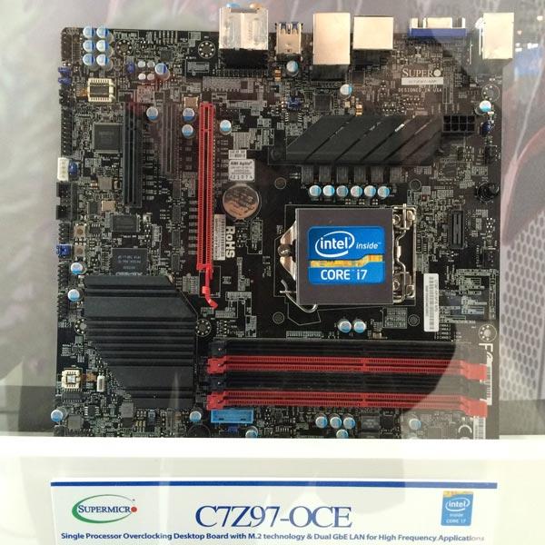 Системная плата Supermicro C7Z97-OCE предназначена для настольных ПК