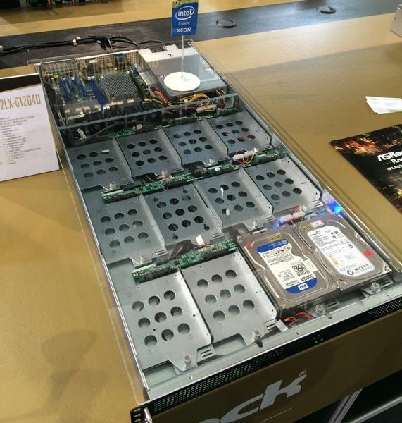 Из готовых платформ ASRock Rack для серверов внимание привлекают модели 1U4 и 1U12LX-14S