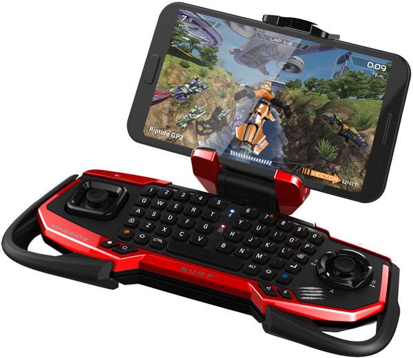 Беспроводной контроллер Mad Catz S.U.R.F.R подходит для игр и управления HTPC