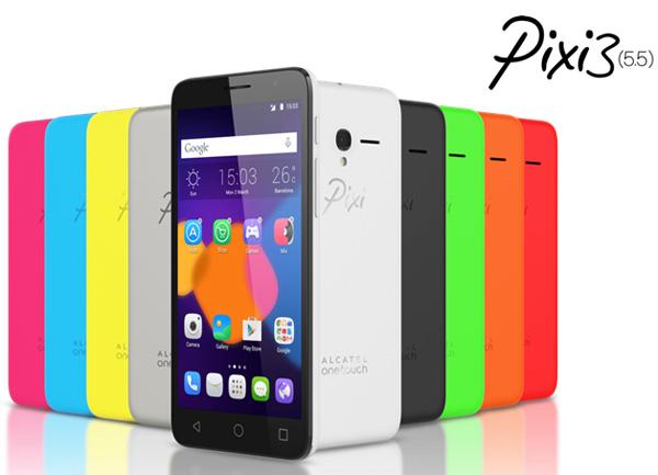 Линейка смартфонов Alcatel OneTouch Pixi 3 при росла двумя моделями с диагональю экрана 5,5 дюйма