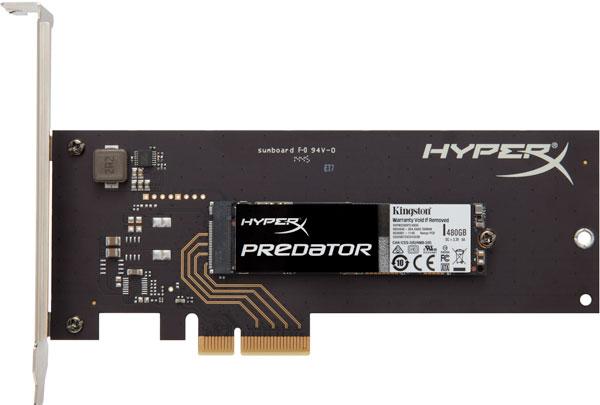 ���� �� SSD Kingston HyperX Predator � ����������� PCIe �������� � ������� $230 �� ������ ������� 240 ��