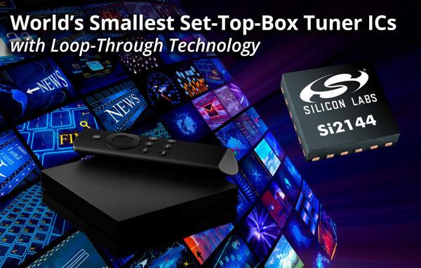 Для микросхем цифровых тюнеров Silicon Labs Si2144 и Si2124 характерны маленькие размеры и высокая степень интеграции