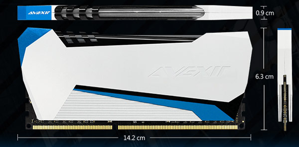 Модули Avexir Raiden предложены в вариантах DDR3-1866 и DDR3-2400 объемом 4 и 8 ГБ