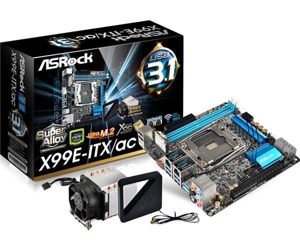 На плате ASRock X99E-ITX/ac находится процессорное гнездо LGA2011-3