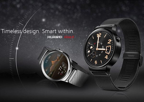 Часы Huawei Watch будут предложены в черном, золотистом и серебристом вариантах внешнего оформления