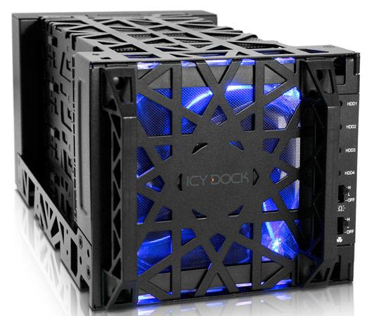 � ���������� Icy Dock Black Vortex MB174U3S-4SB ������������ �� USB 3.0 ��� eSATA