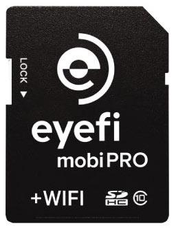 Карточка памяти Eyefi Mobi Pro объемом 32 ГБ поддерживает Wi-Fi