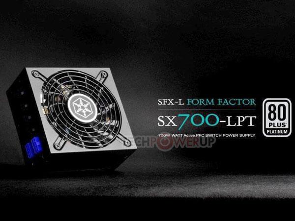 Блок питания SilverStone SX700-LPT типоразмера SFX-L обеспечивает постоянную мощность 700 Вт