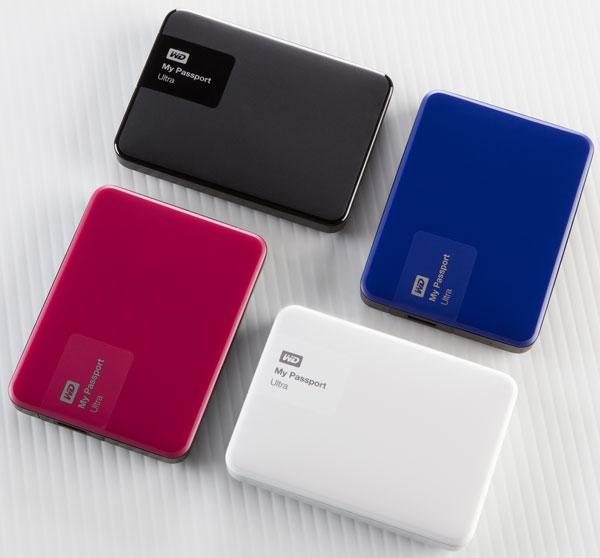 Одновременно с накопителями WD My Passport Ultra и My Passport for Mac представлены разноцветные сменные накладки Grip Pack