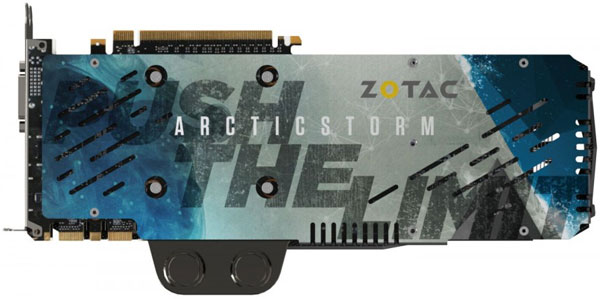 Zotac GTX Titan X Arctic Storm (ZT-90402-10P) — первая 3D-карта на базе Nvidia GeForce GTX Titan X, отличающаяся от референсного образца